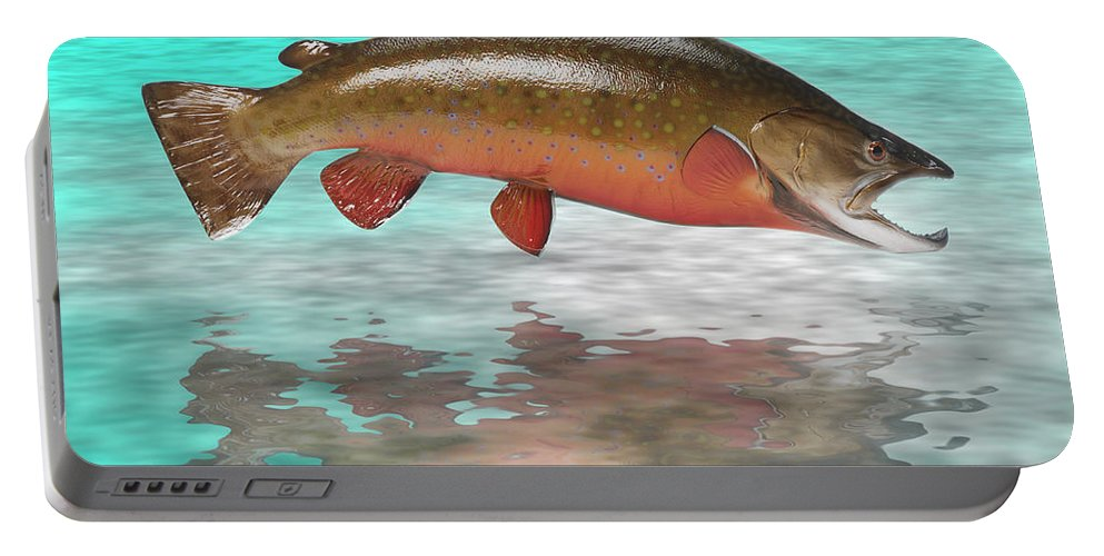 Trout Portable Battery Charger featuring the photograph Big Fish by Jerry McElroy