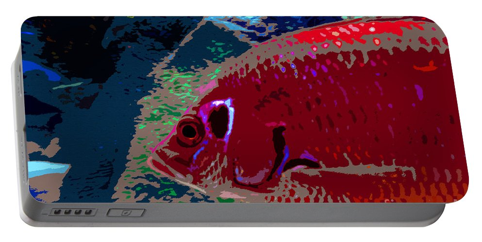 Art Portable Battery Charger featuring the painting Big Red by David Lee Thompson