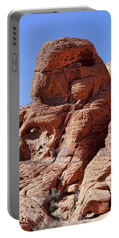 Rocks Portable Battery Charger featuring the photograph Big Red by Kelley King