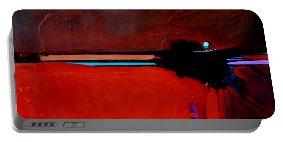 Red Portable Battery Charger featuring the painting Big Red by Marlene Burns