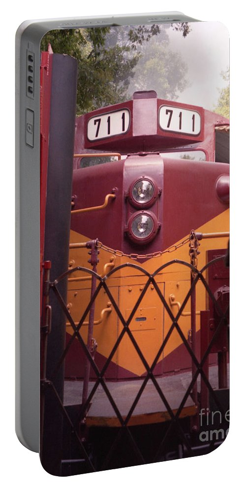 Trains Portable Battery Charger featuring the photograph Big Red by Richard Rizzo