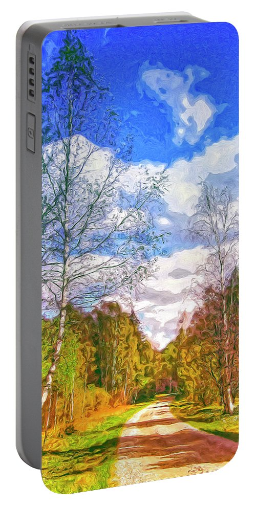 Big Sky Portable Battery Charger featuring the painting Big Sky by Dominic Piperata
