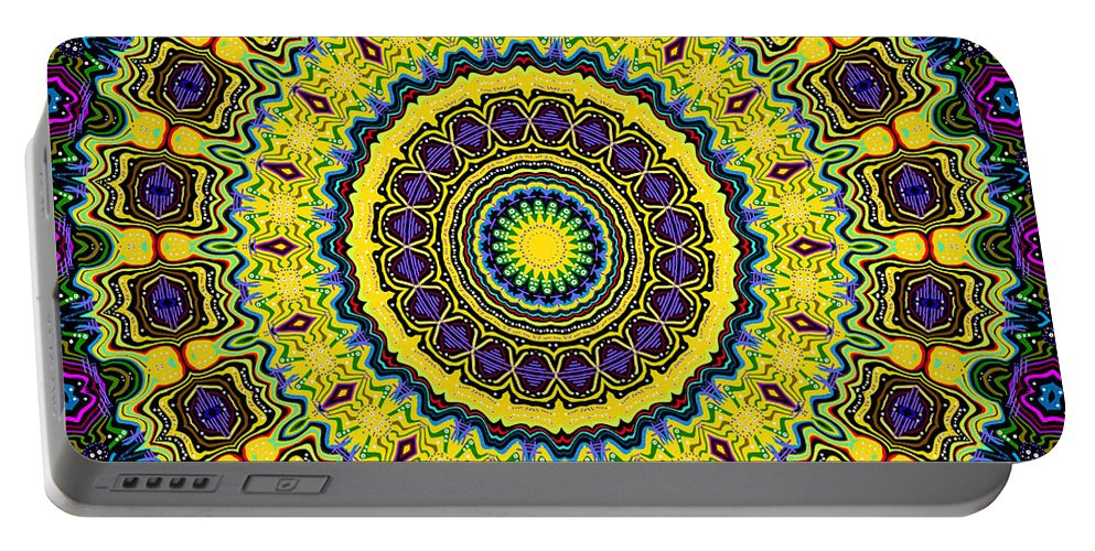 Digital Portable Battery Charger featuring the digital art Big Sunny by Joy McKenzie