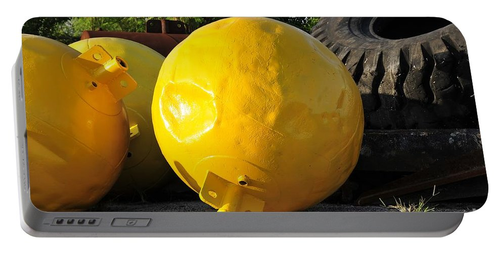 Yellow Portable Battery Charger featuring the photograph Big Yellow Balls by David Lee Thompson