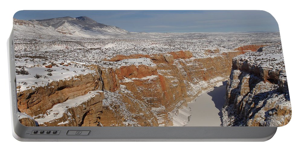 Bighorn Canyon Portable Battery Charger featuring the photograph Bighorn Canyon, Montana by Jean-Louis Klein & Marie-Luce Hubert