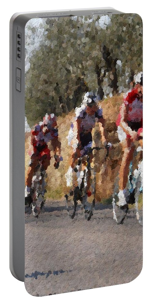 Italy Portable Battery Charger featuring the photograph Bike Race by Modern Art