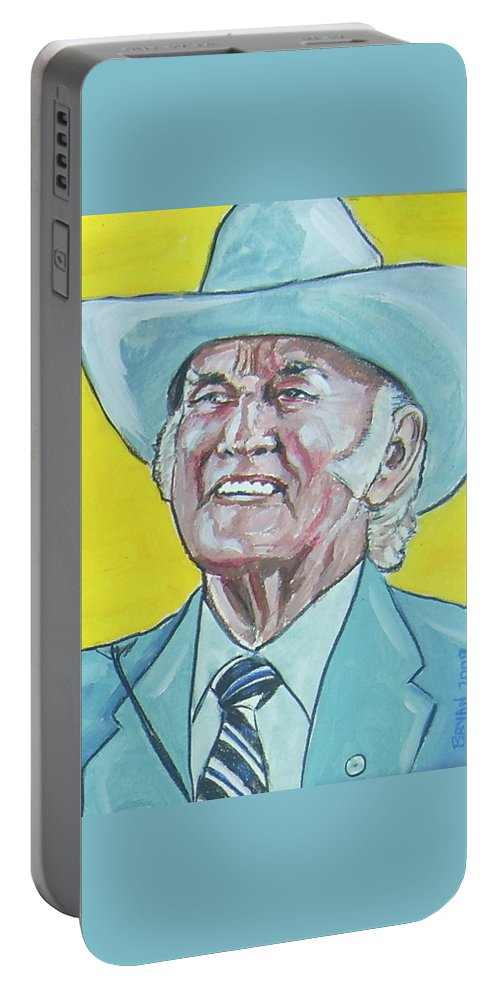Bill Monroe Portable Battery Charger featuring the painting Bill Monroe by Bryan Bustard