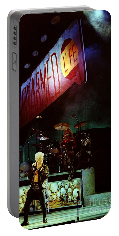 Billy Idol Portable Battery Charger featuring the photograph Billy Idol 90-2277 by Gary Gingrich Galleries