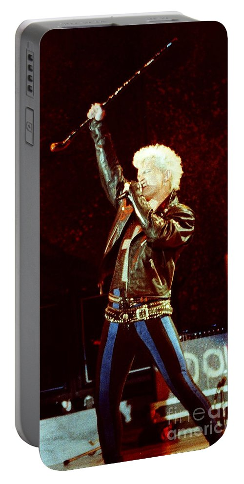 Billy Idol Portable Battery Charger featuring the photograph Billy Idol 90-2307 by Gary Gingrich Galleries