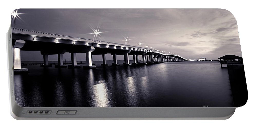 Biloxi Portable Battery Charger featuring the photograph Biloxi Moods by Joan McCool