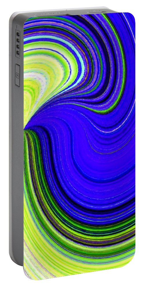 Abstract Portable Battery Charger featuring the digital art Bionetwork Flow by Will Borden