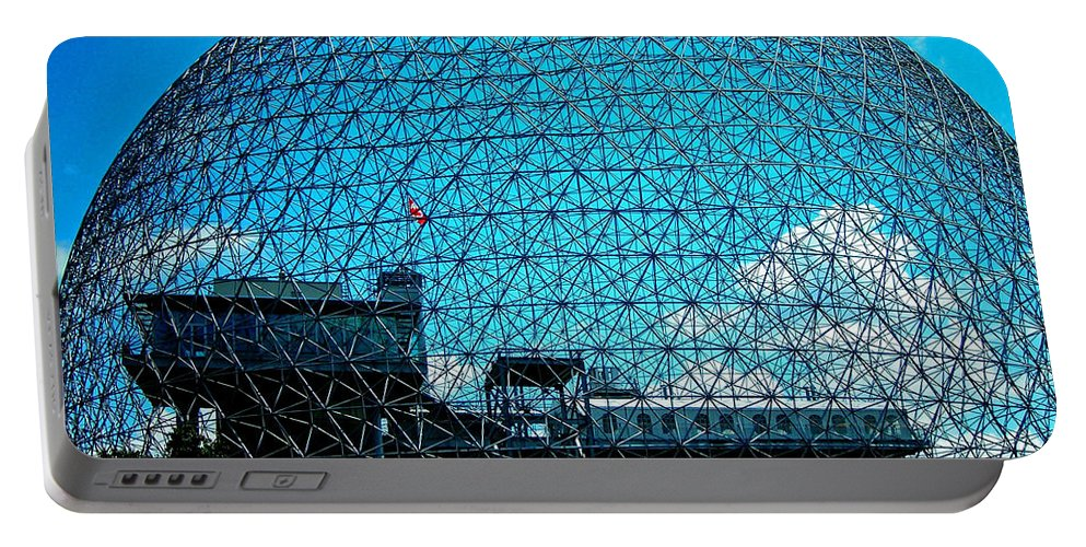 North America Portable Battery Charger featuring the photograph Biosphere Montreal by Juergen Weiss