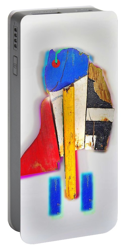 Bird Portable Battery Charger featuring the mixed media Bird by Charles Stuart