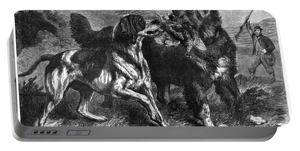 1868 Portable Battery Charger featuring the photograph Bird Dogs, 1868 by Granger
