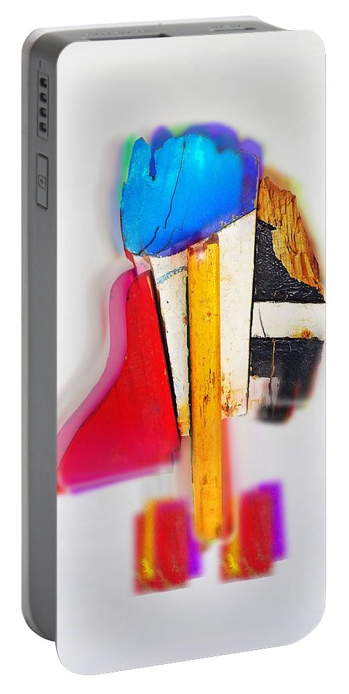 Dude Portable Battery Charger featuring the digital art Bird Dude by Charles Stuart