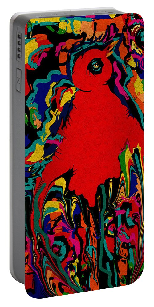 Bird Of Paradise Portable Battery Charger featuring the mixed media Bird Of Paradise by Natalie Holland