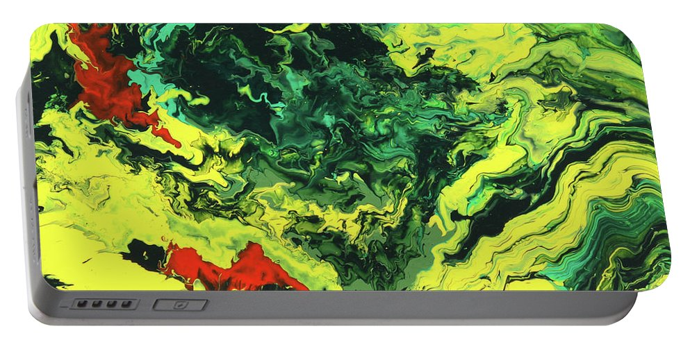 Fusionart Portable Battery Charger featuring the painting Bird Of Paradise by Ralph White