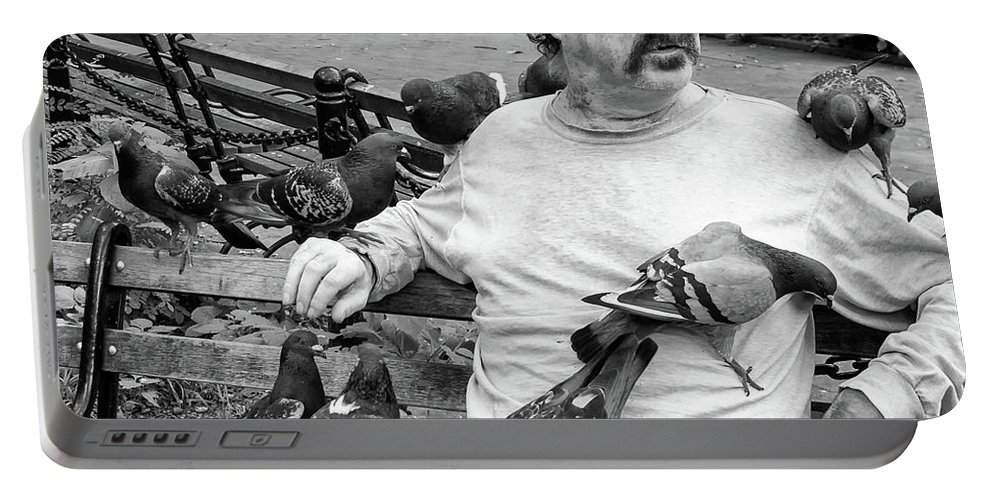 Bird Portable Battery Charger featuring the photograph Birdman Of Wsp by Eric Lake