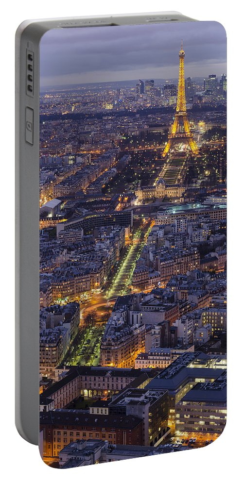 Paris Portable Battery Charger featuring the photograph Bird's Eye On Paris 1 by Pablo Lopez