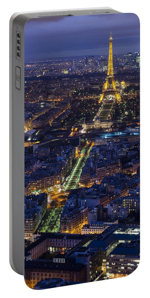 Paris Portable Battery Charger featuring the photograph Bird's Eye On Paris 2 by Pablo Lopez