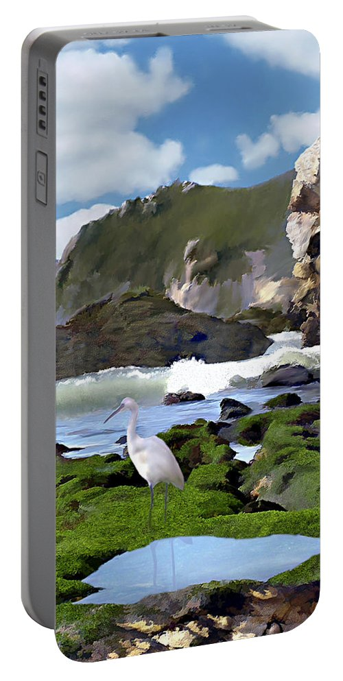 Ocean Portable Battery Charger featuring the photograph Bird's Eye View by Kurt Van Wagner