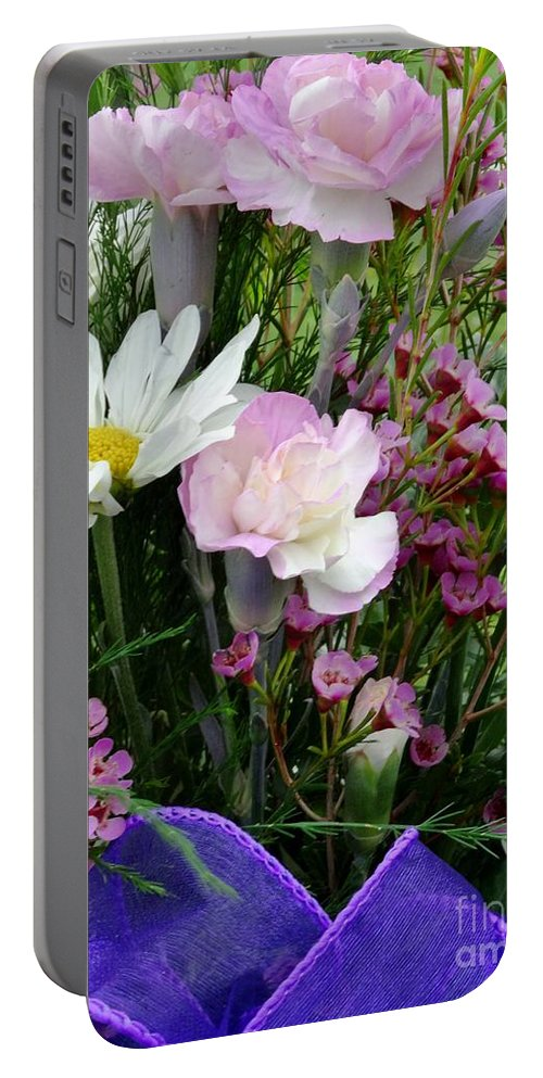 Flower Portable Battery Charger featuring the photograph Birthday Flowers by By Tara MB