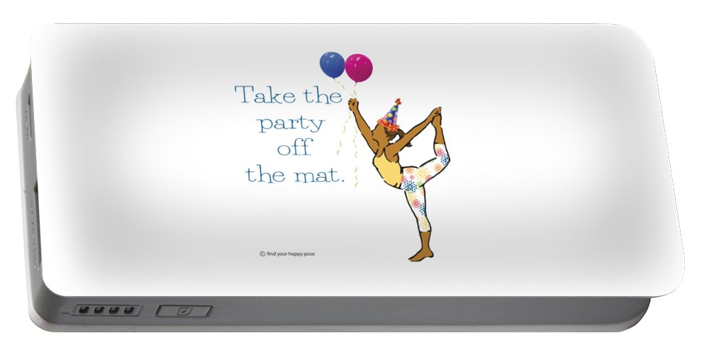 Lord Of The Dance Pose Portable Battery Charger featuring the digital art Party Pose 2 by Patti And Lori