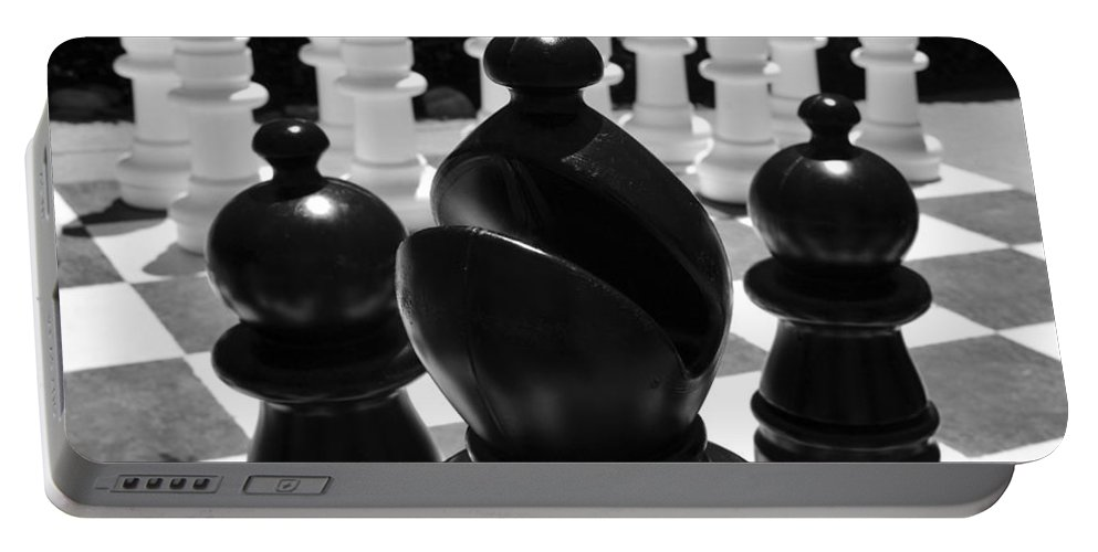 Chess Portable Battery Charger featuring the photograph Bishops Move by David Lee Thompson