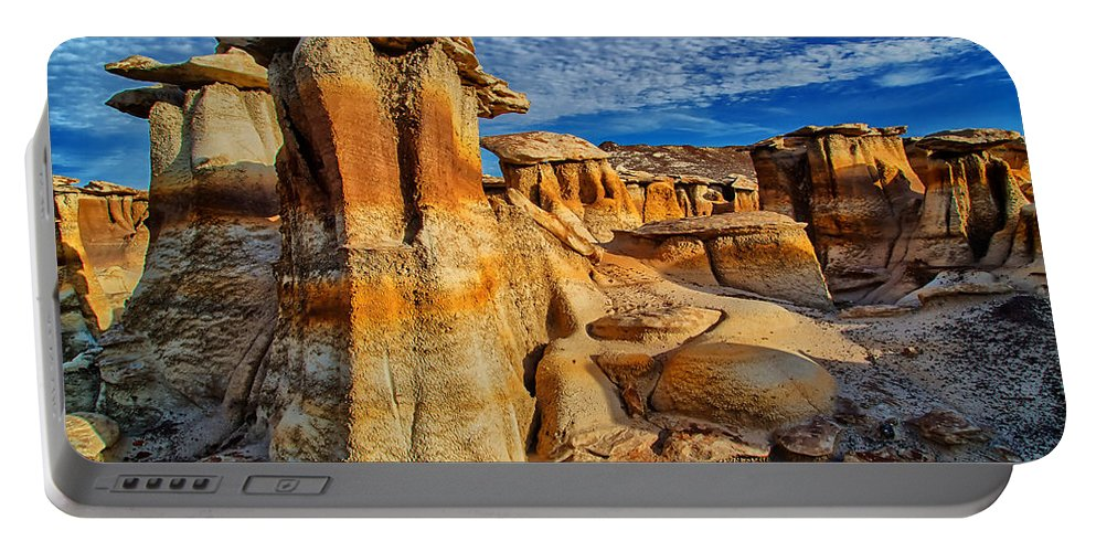 Bisti Badlands Portable Battery Charger featuring the photograph Bisti Badlands 12 by Ingrid Smith-Johnsen