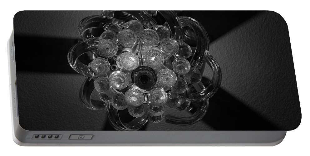 Fan Portable Battery Charger featuring the photograph Black And White Crystal by Rob Hans