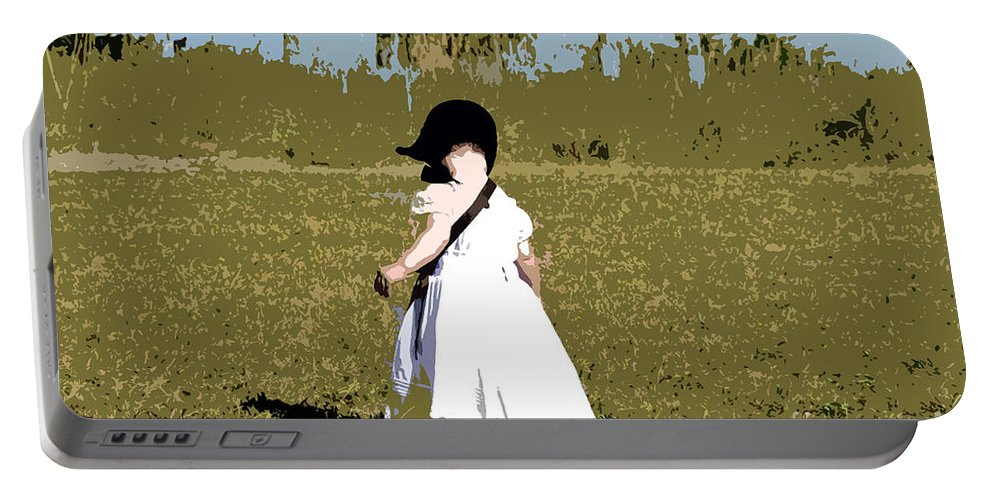 Child Portable Battery Charger featuring the painting Black Bonnet by David Lee Thompson