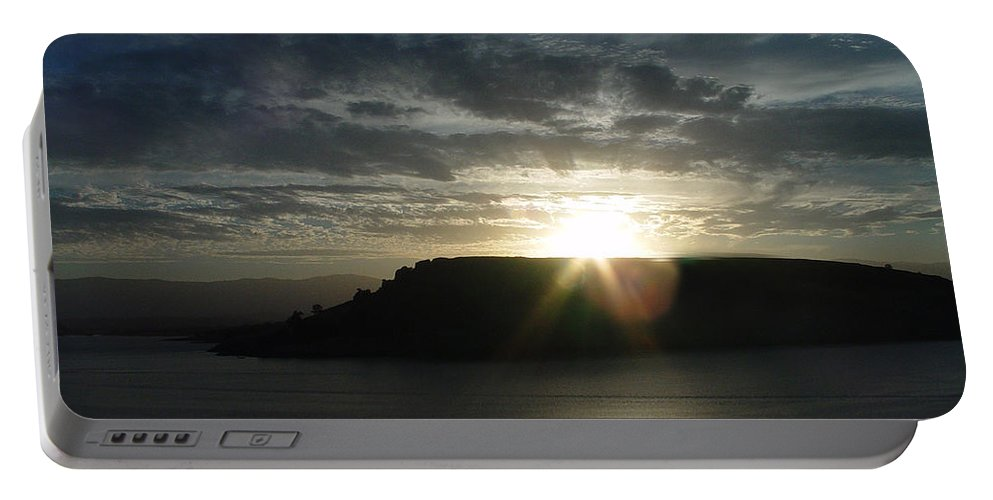 Black Butte Lake Portable Battery Charger featuring the photograph Black Butte Sunrise by Peter Piatt