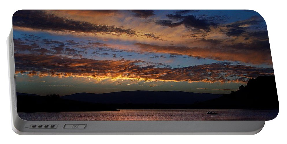 Black Butte Sunset Portable Battery Charger featuring the photograph Black Butte Sunset by Peter Piatt