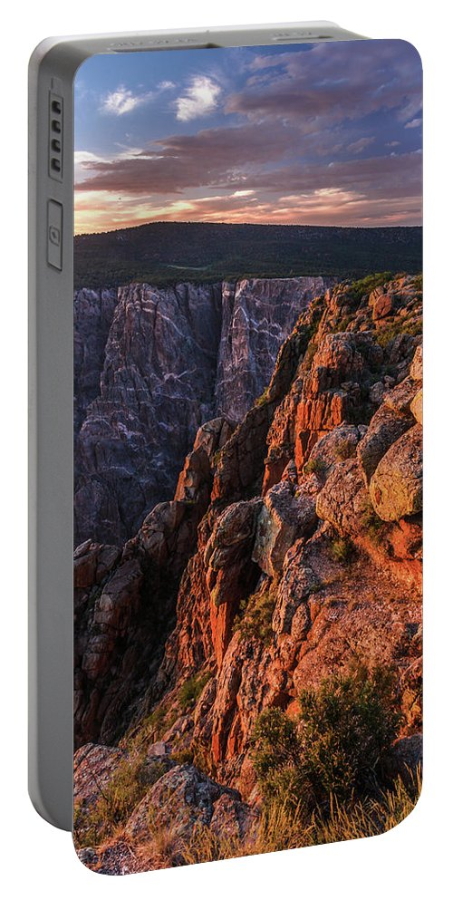 Black Canyon Sunset Portable Battery Charger featuring the photograph Black Canyon Sunset Glow by Lon Dittrick