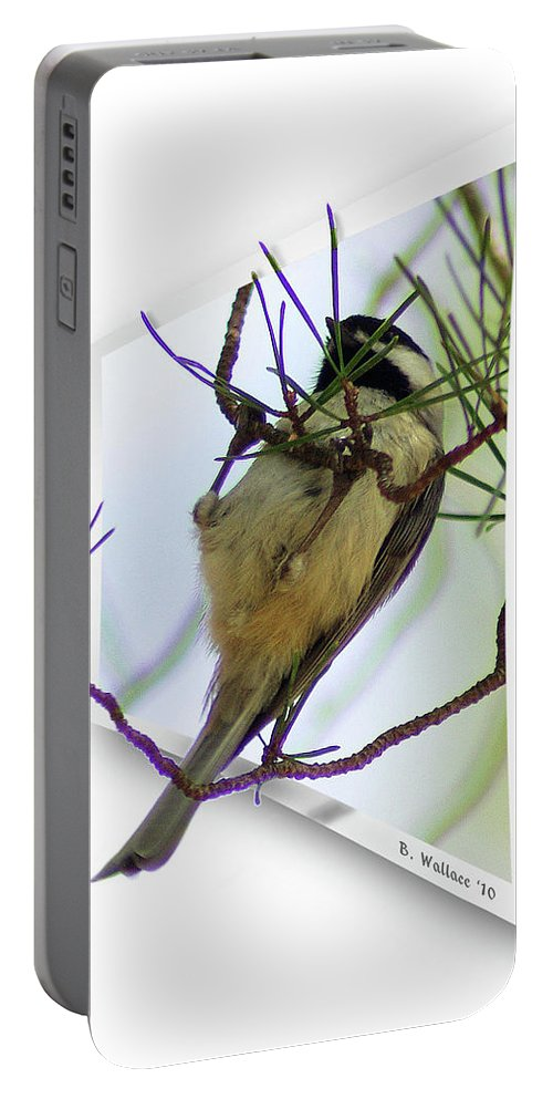 2d Portable Battery Charger featuring the photograph Black-capped Chick-a-dee by Brian Wallace
