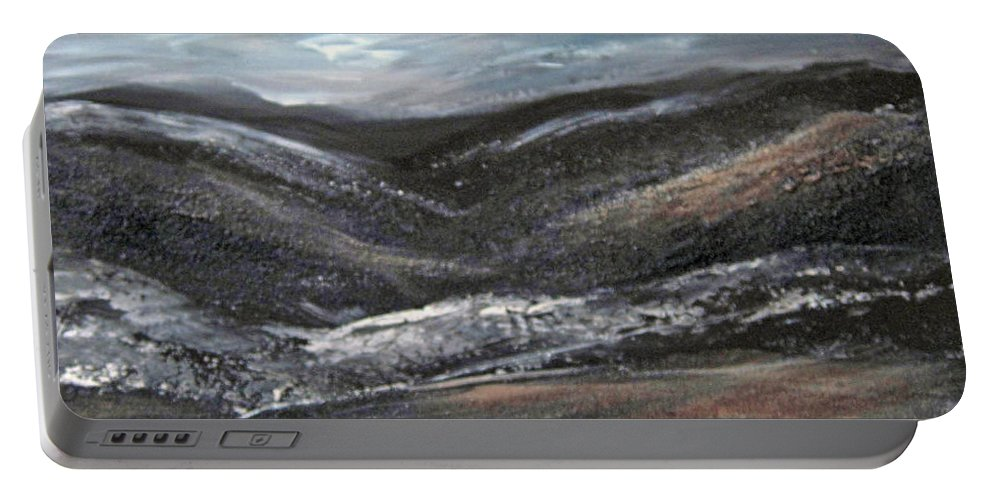 Hills Portable Battery Charger featuring the painting Black Hills by Roberta Rotunda
