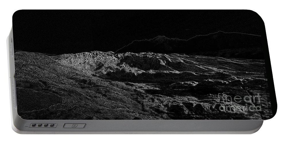 Black Ice Portable Battery Charger featuring the photograph Black Ice by Ron Bissett