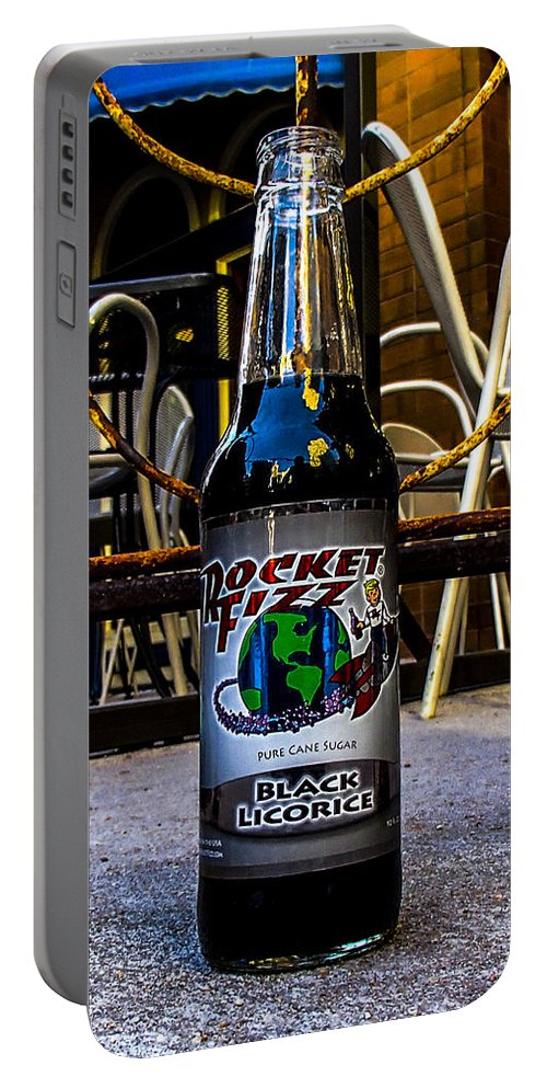 Rocket Fizz Portable Battery Charger featuring the photograph Black Licorice by Angus Hooper Iii