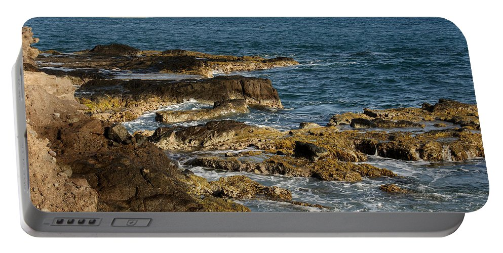 Sailboat Portable Battery Charger featuring the photograph Black Rock Point And Sailboat by Jean Macaluso