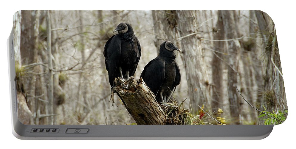 Black Vultures Portable Battery Charger featuring the photograph Black Vultures by David Lee Thompson