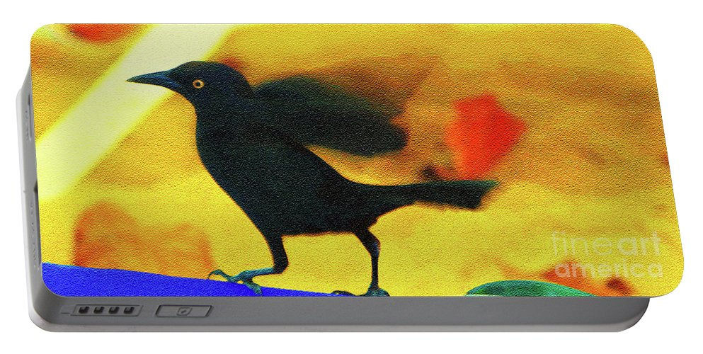 Bird Portable Battery Charger featuring the photograph Blackbird by Madeline Ellis
