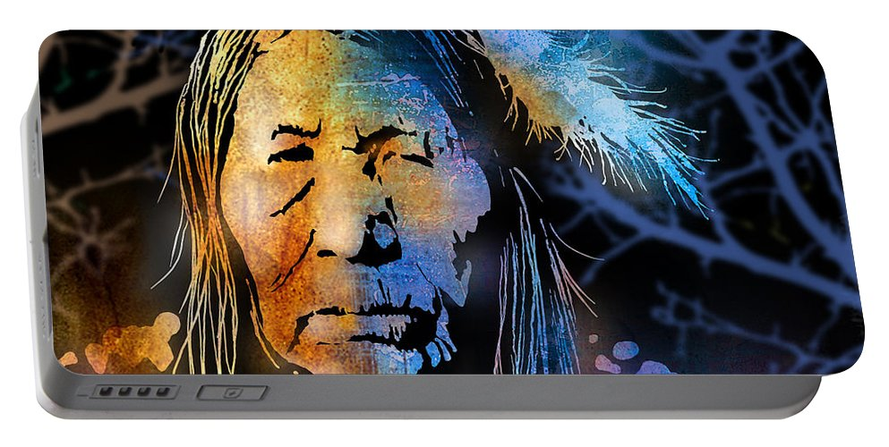 Native Americans Portable Battery Charger featuring the painting Blackfoot Woman by Paul Sachtleben