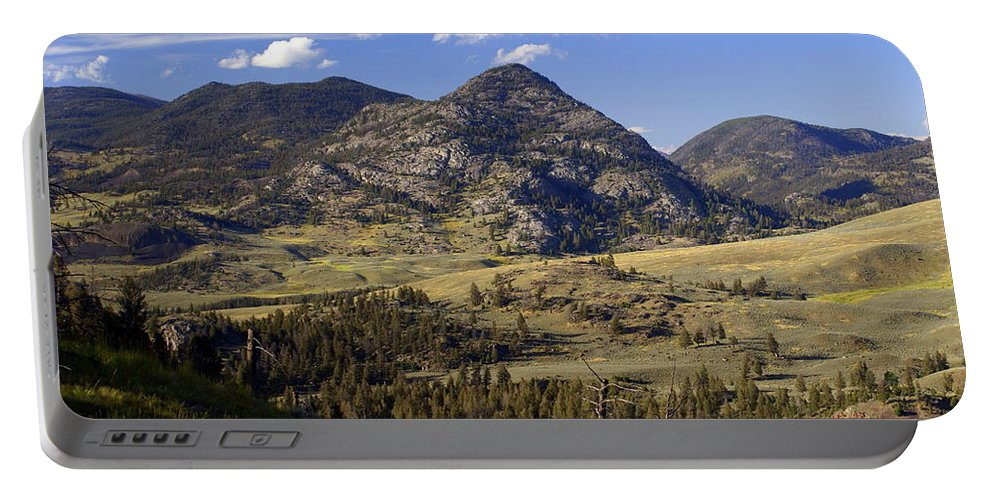 Yellowstone National Park Portable Battery Charger featuring the photograph Blacktail Road Landscape 2 by Marty Koch