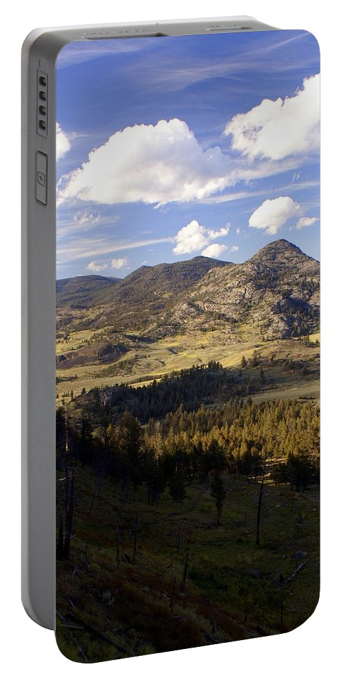 Yellowstone National Park Portable Battery Charger featuring the photograph Blacktail Road Landscape by Marty Koch