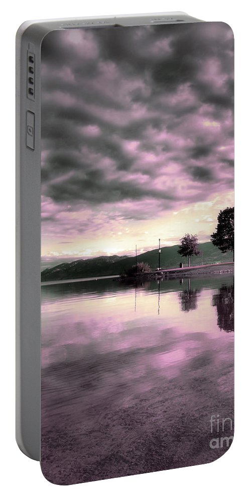 Clouds Portable Battery Charger featuring the photograph Blanketed by Tara Turner