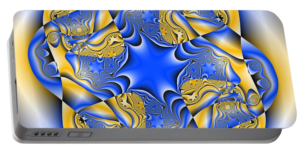 Abstract Portable Battery Charger featuring the digital art Blasphyxia by Andrew Kotlinski