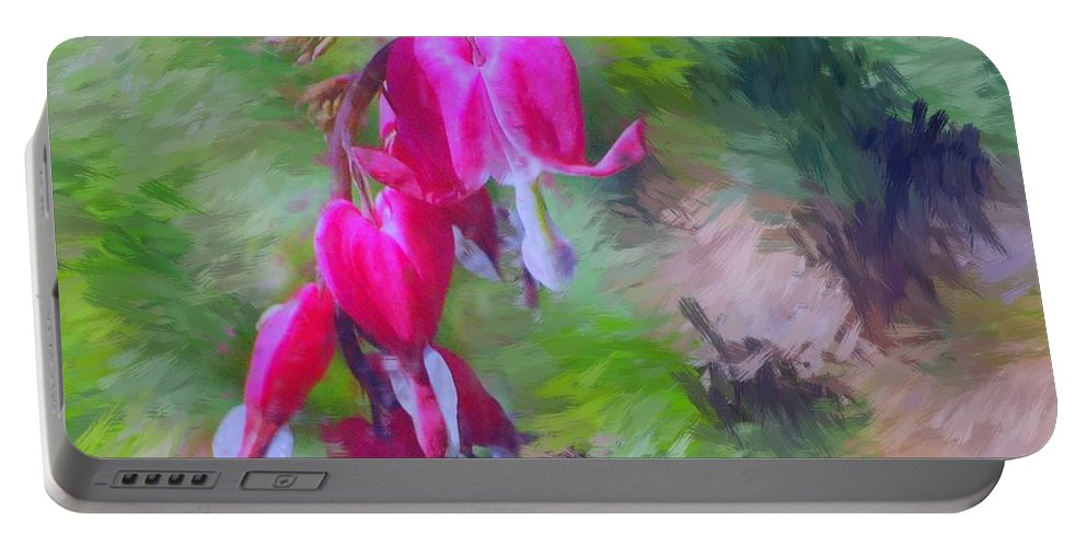 Daffodil Portable Battery Charger featuring the photograph Bleeding Heart by David Lane