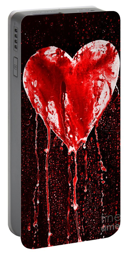 Bleeding Portable Battery Charger featuring the photograph Bleeding Heart by Michal Boubin