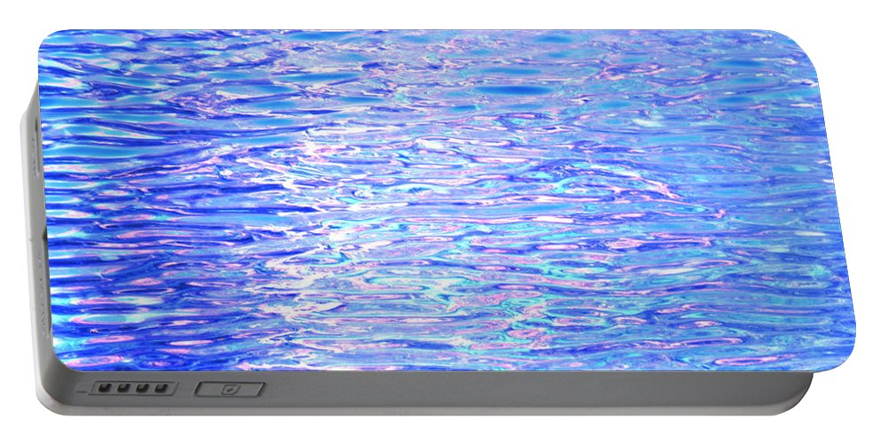 Water Portable Battery Charger featuring the photograph Blissful Blue Ocean by Sybil Staples