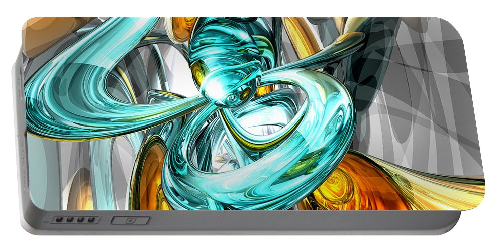 3d Portable Battery Charger featuring the digital art Blissfulness Abstract by Alexander Butler
